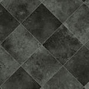 Slate Diagonal Tile Cushioned Vinyl