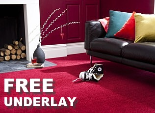 free carpet underlay with a large range of carpets